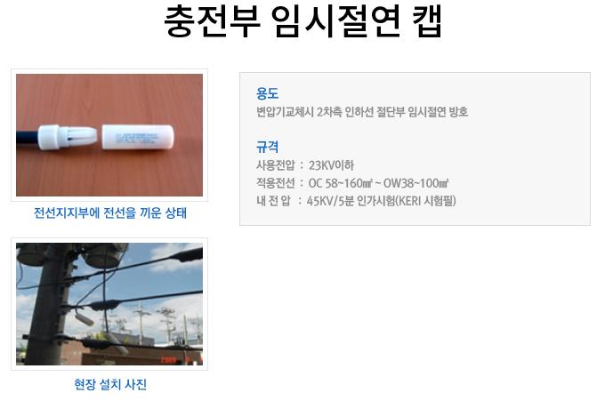 충전부-임시절연-캡
